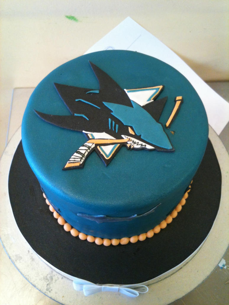San Jose Sharks Cake By Spudnuts On Deviantart