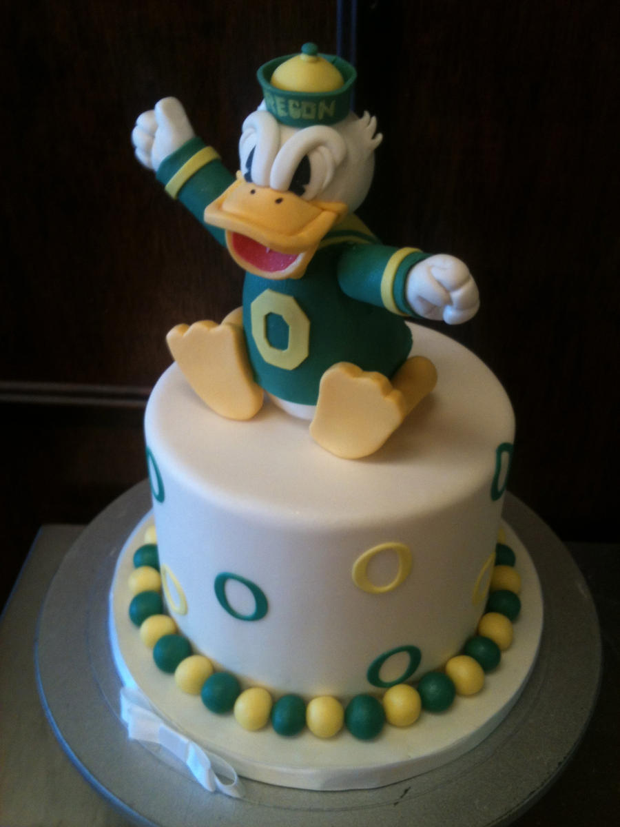 Oregon Ducks Cake by Spudnuts on DeviantArt
