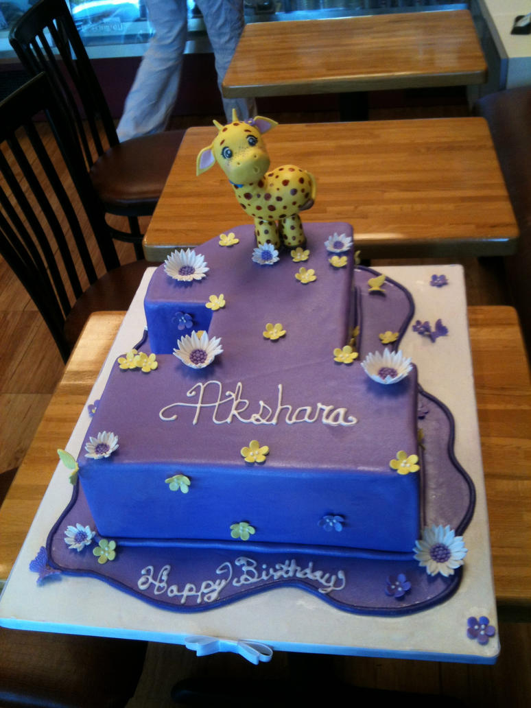 Art Cake Kuwait Number : Number One Cut Out Cake with Giraffe by Spudnuts on DeviantArt