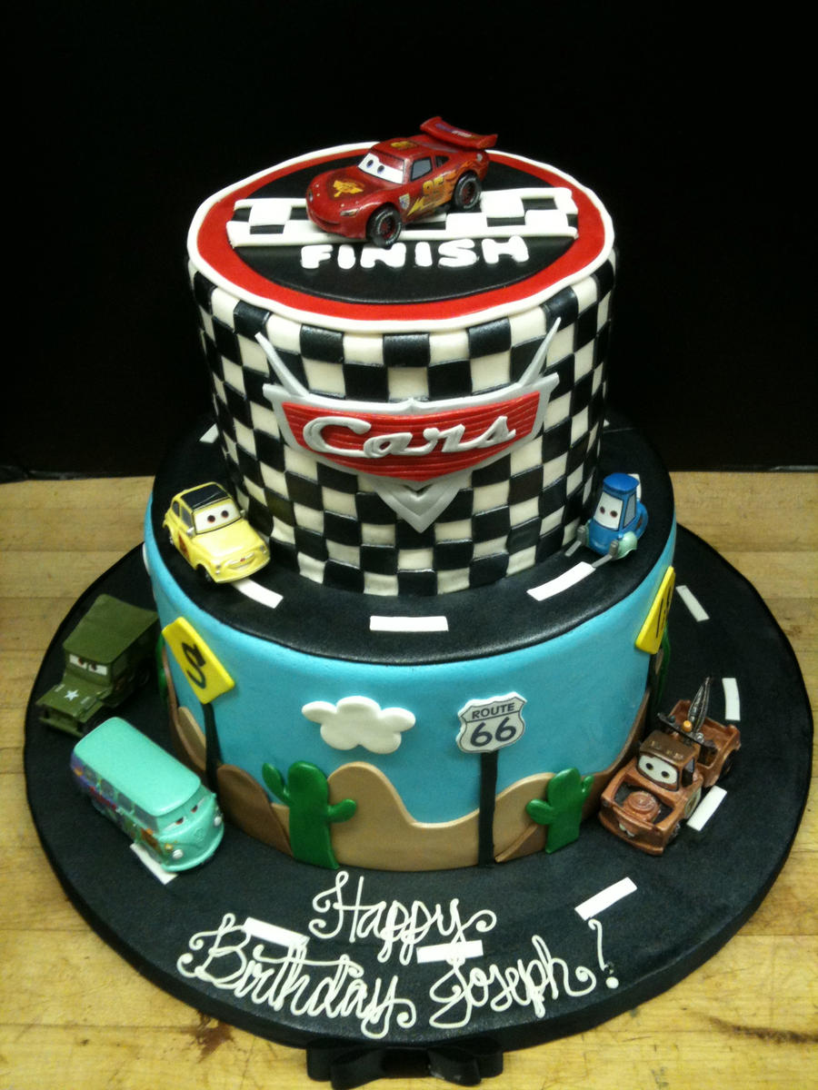 Car Cake Image Free Download : Two Tiered Cars Cake by Spudnuts on DeviantArt