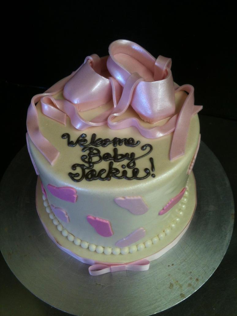 ballerina baby shower cake by spudnuts on deviantart