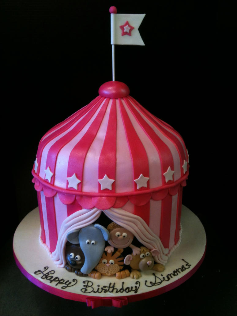 3D Circus Cake by Spudnuts