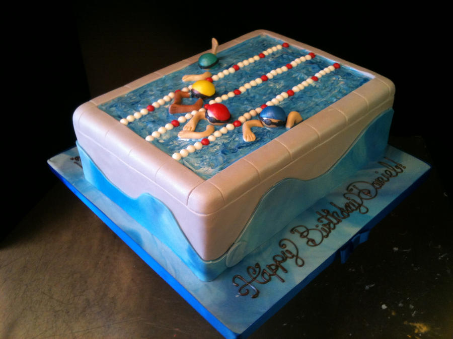 Pool Cake by Spudnuts