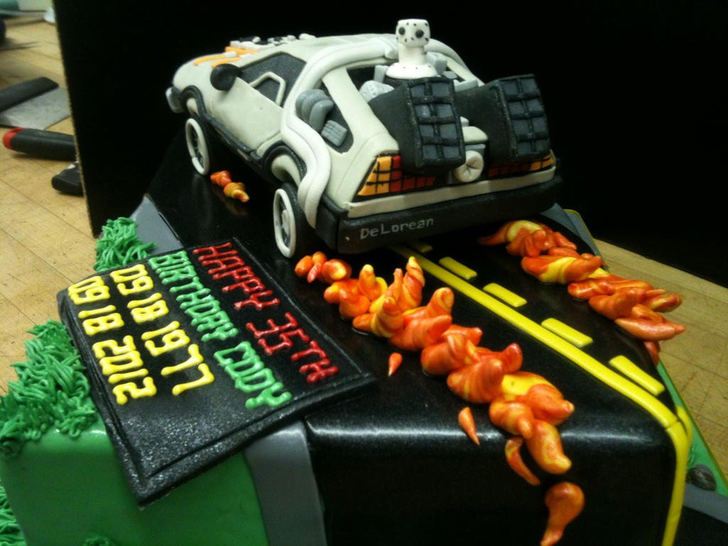 Back To The Future Cake Rear View By Spudnuts On Deviantart