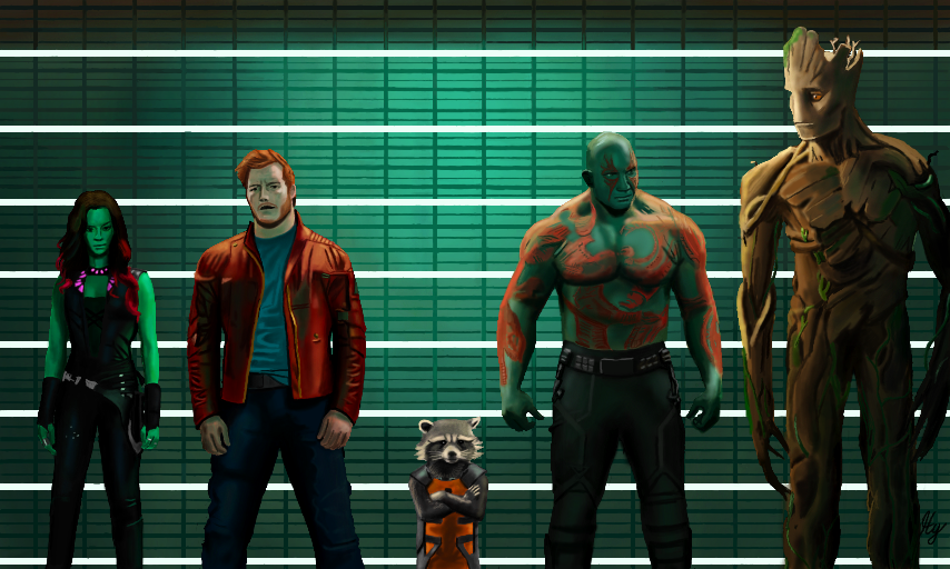 Guardians Of The Galaxy by WeaponX-Art