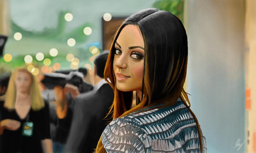 Mila Kunis by WeaponX-Art