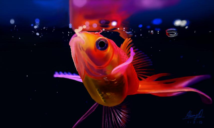Goldfish by WeaponX-Art