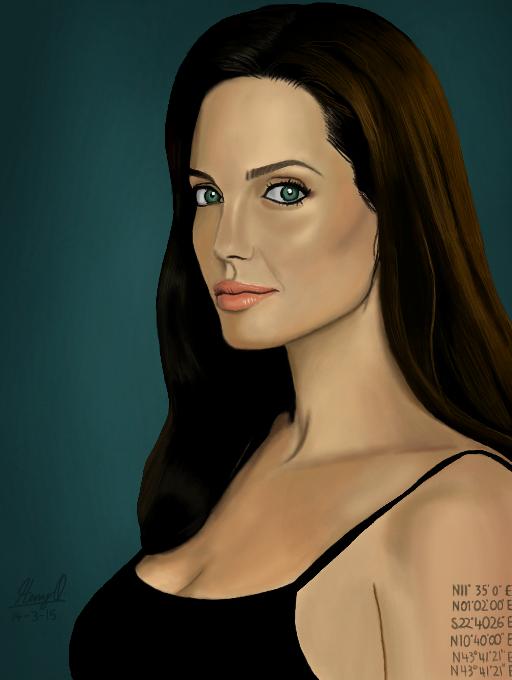 Angelina Jolie by WeaponX-Art