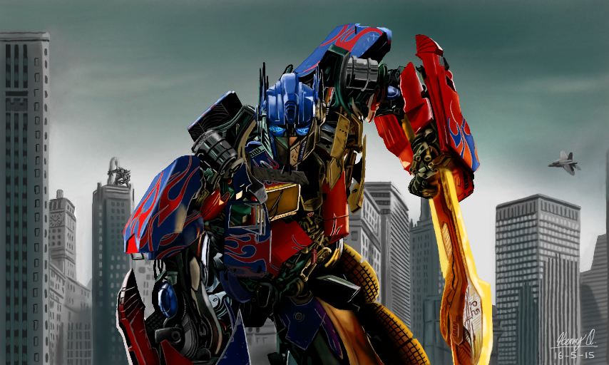Optimus Prime by WeaponX-Art