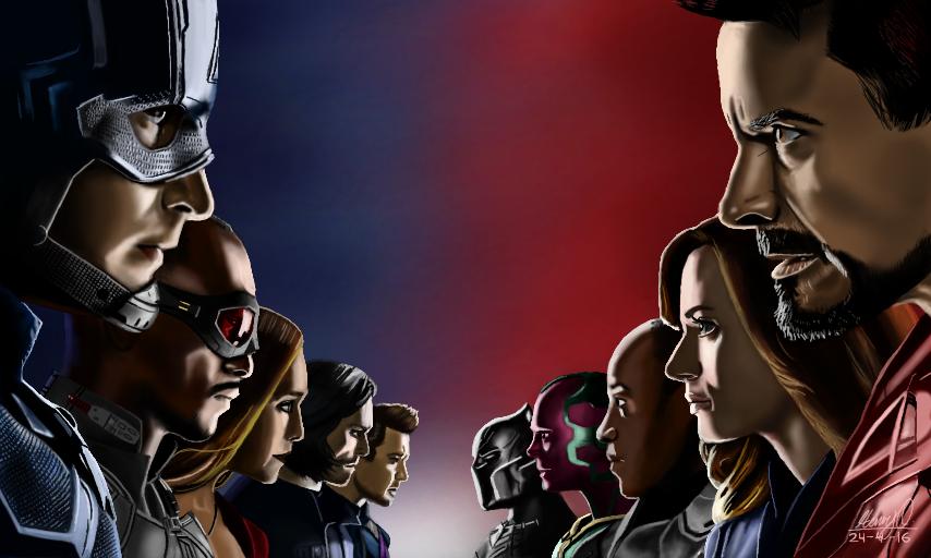Captain America: Civil War by WeaponX-Art