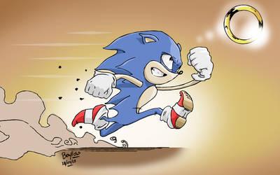 Sonic 30 minute Sketch by RyanBayliss