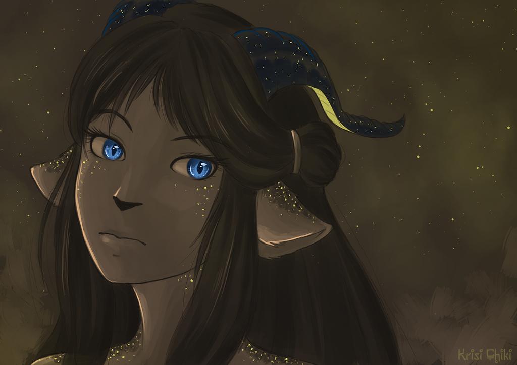 Reflecting the stars by KrisiChiki