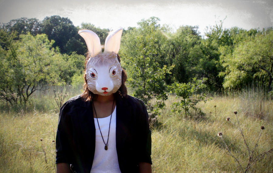 Bunny Mask Self Portrait by alexisislame