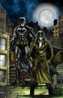 Batman and Rorschach by c-crain by MatthewLosure
