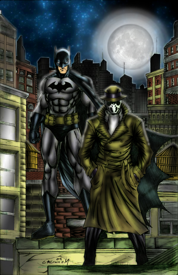 Batman and Rorschach