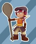 Wooden Spoon Warrior (Inktober)