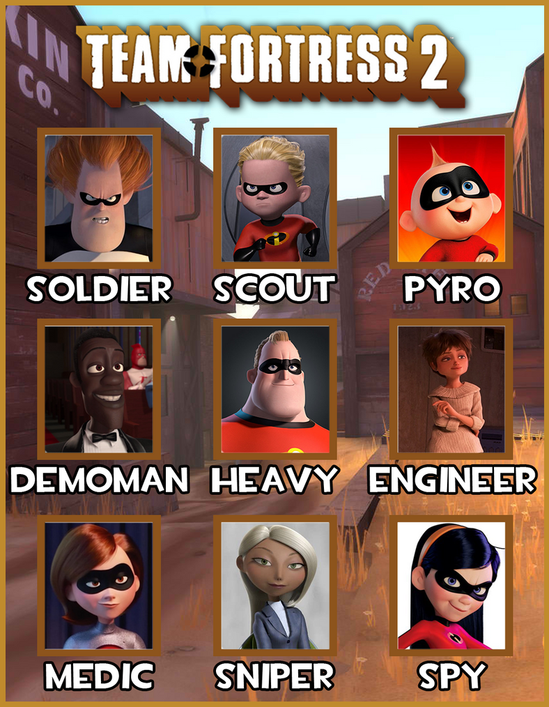 Team Fortress 2 Crew Meme Incredibles Edition By Jmatts16 On