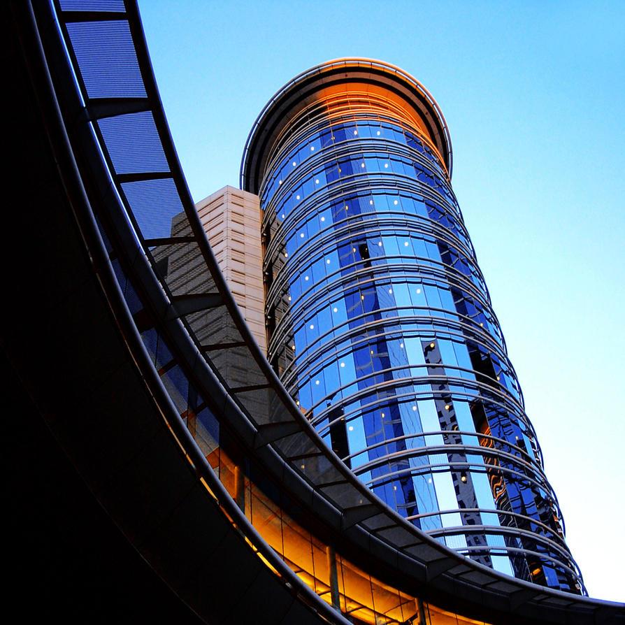 blue tower by foureyestock