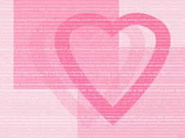 Love Hearts Quotes Wallpaper by pandoraice