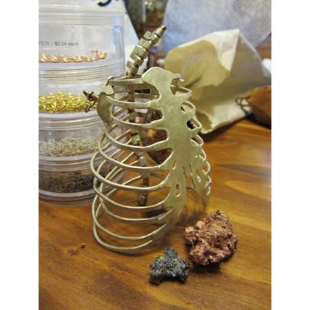 Skeleton Ribcage Brooch by SadiesAccessories