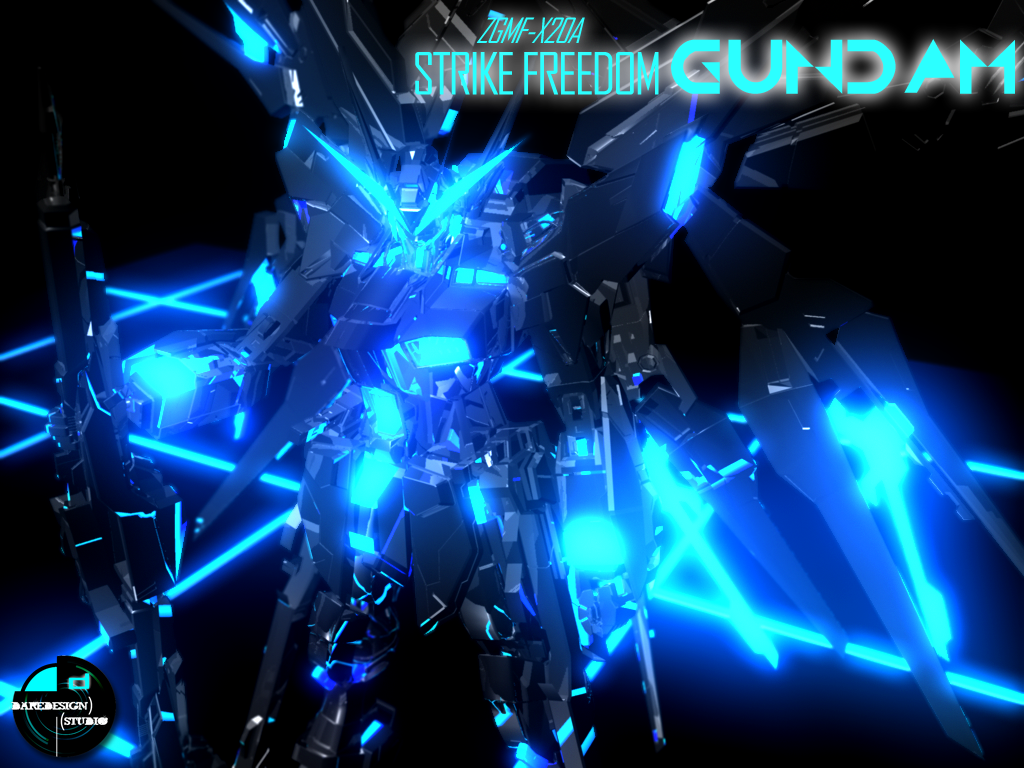 Strike Freedom TRON Edition by DareDesignStudio
