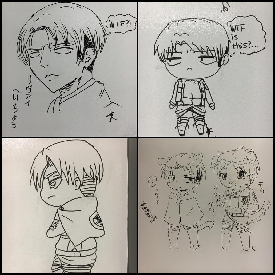 Finals white board Levi's by Hami-san