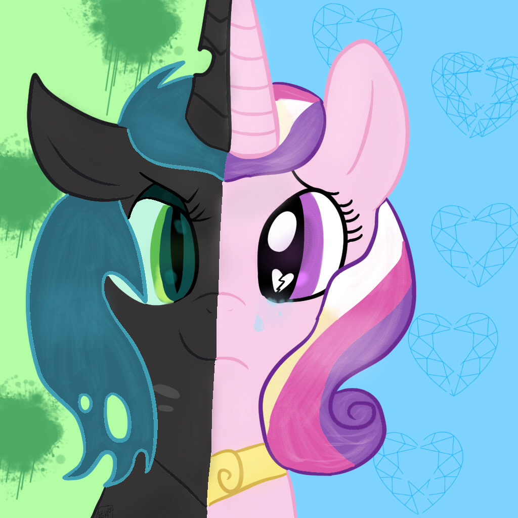 Princess Cadence and Queen Chrysalis by lolasimone01 on ... Queen Chrysalis X Princess Cadence