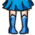 FREE Avatar - Sailor Mercury Shoes by Flusjaa