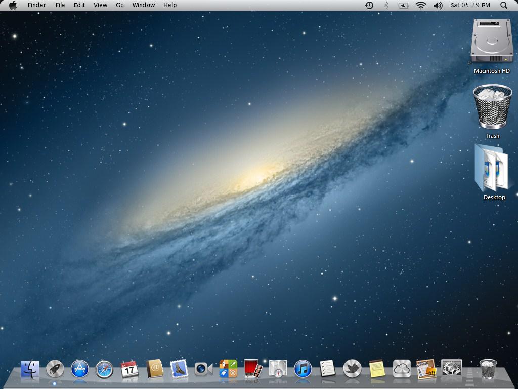 Mac Mountain lion Theme For Windows 7