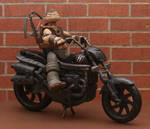 The Walking Dead Daryl Dixon TMNT with Motorcycle
