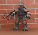 The Walking Dead Daryl Dixon TMNT Black and White