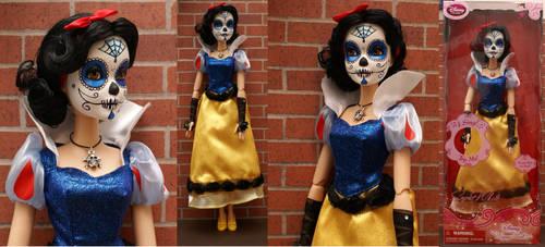 Snow White Dia De Los Muertos 18inch Custom Doll by goose360