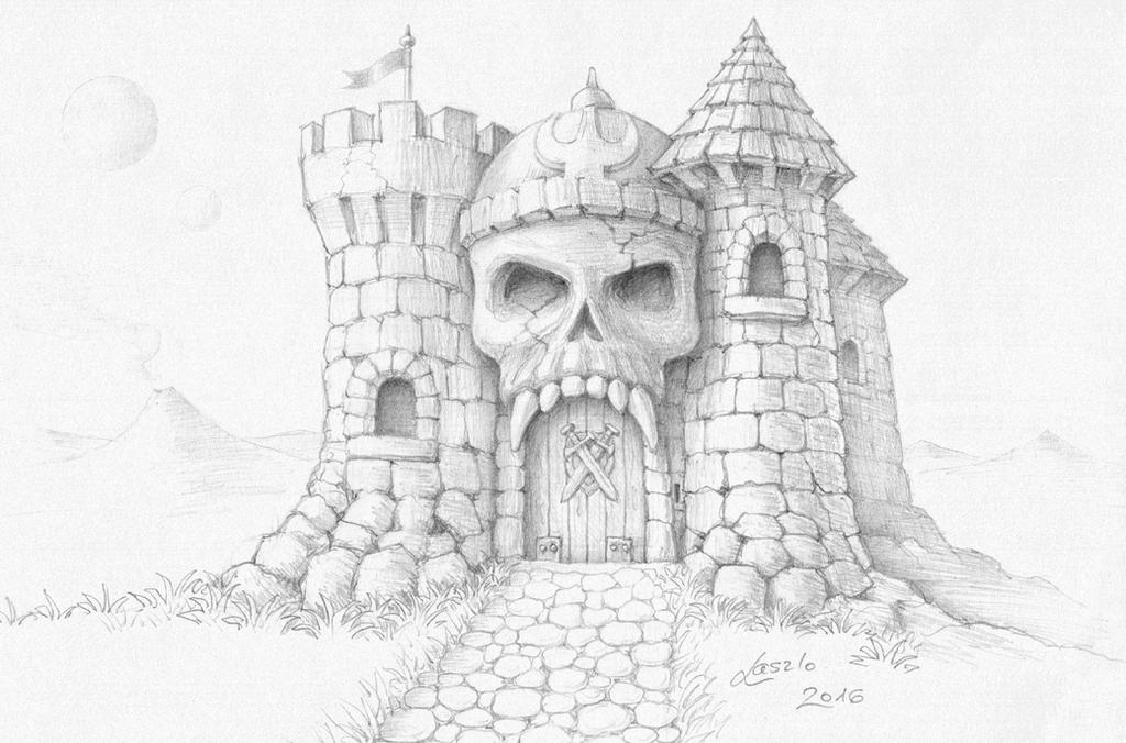 castle grayskull sketch motu by skulpturen - Traditional Castle 2016