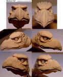 Skeksis head sculpture