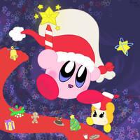Kirby - Merry Christmas by EeveeFromKalos123