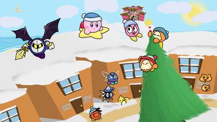 Kirby - Winter Wonderland by EeveeFromKalos123