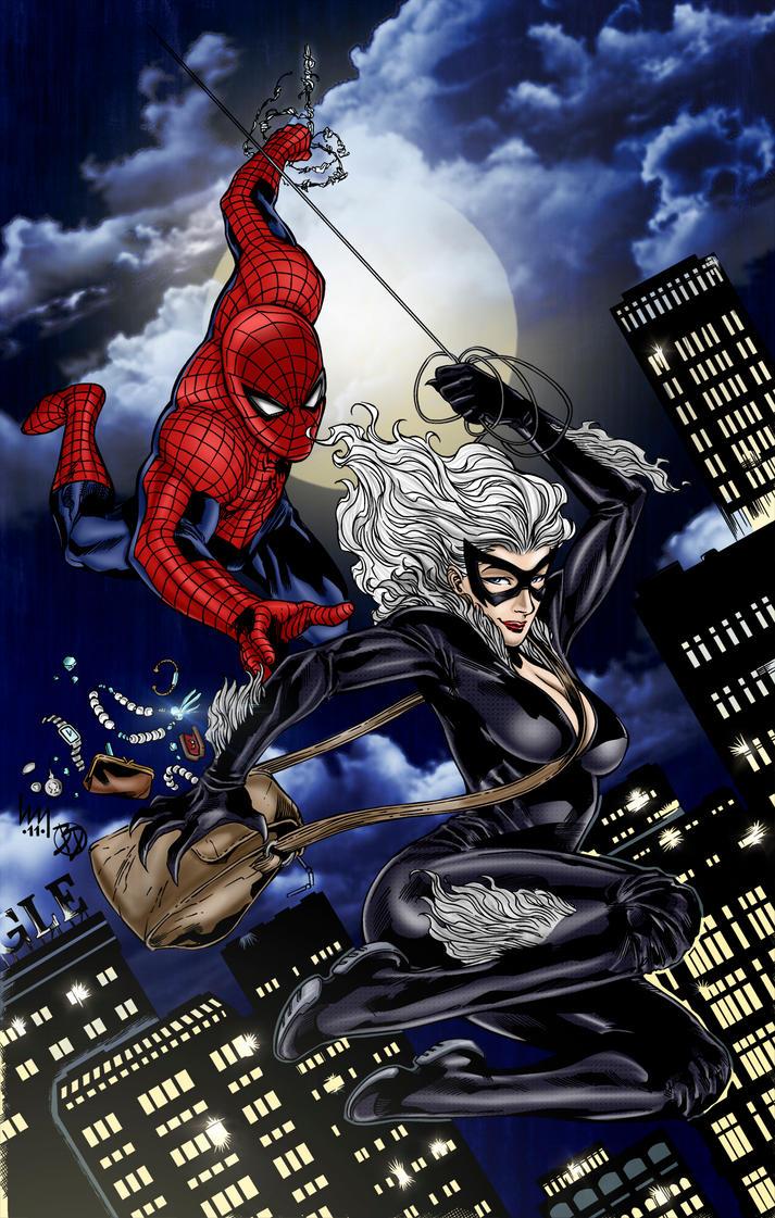 spiderman black cat - 600×943