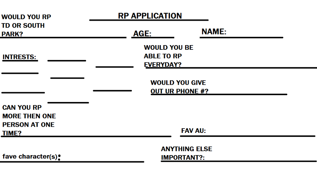 RP APPLICATION by Totaldramazmama