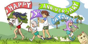 Happy 3rd Anniversary, Pangya :-) by LavaLizard