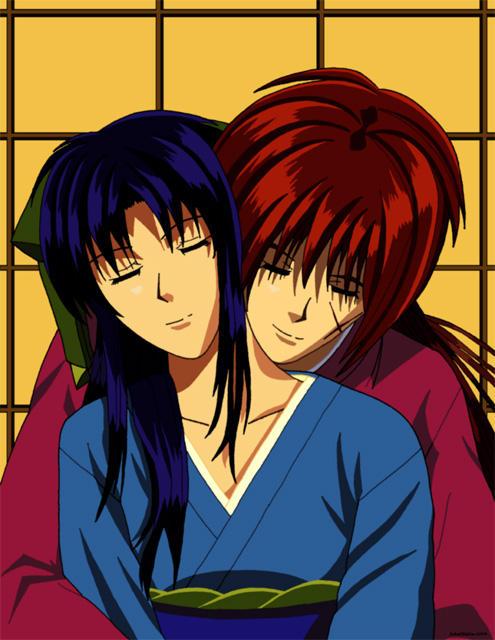 Kenshin and Kaoru by Jakstiltskin on DeviantArt