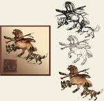 Howrse art / PrehistoricWarrior I.