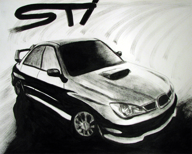 Subaru STI by thaddeous
