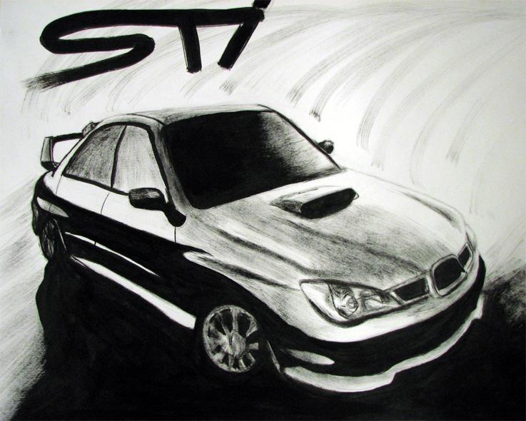 Subaru STI by thaddeous