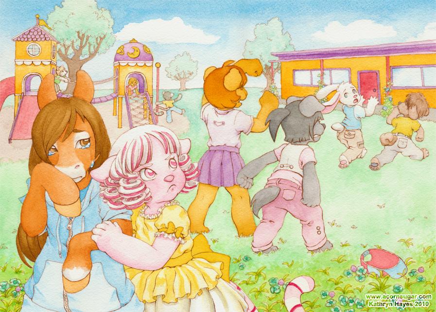 Schoolyard Fight by Mirelmture