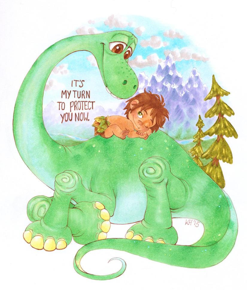 Good Dino by katiesketch