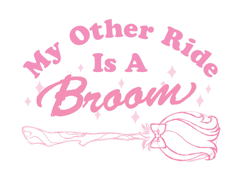 My Other Ride Is A Broom Sketch by katiesketch