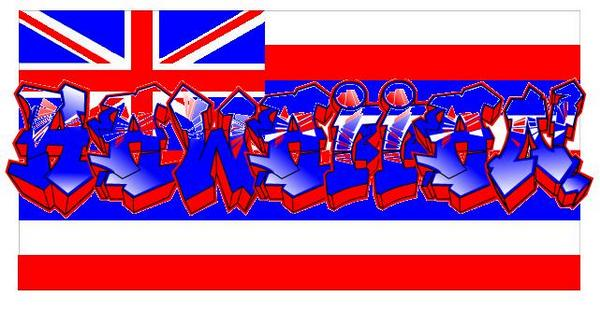 Hawaiian Flag by YNIBOI
