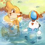 Art Trade - Buizel and Oshawott