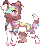 Commission - Confetti pixel by Flavia-Elric
