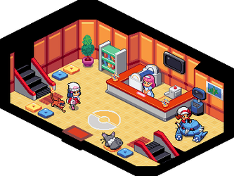 Sinnoh Pokemon Center by Flavia-Elric